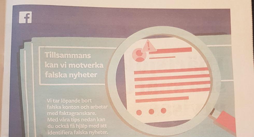 Facebook kör helsidesannonser inför svenska valet