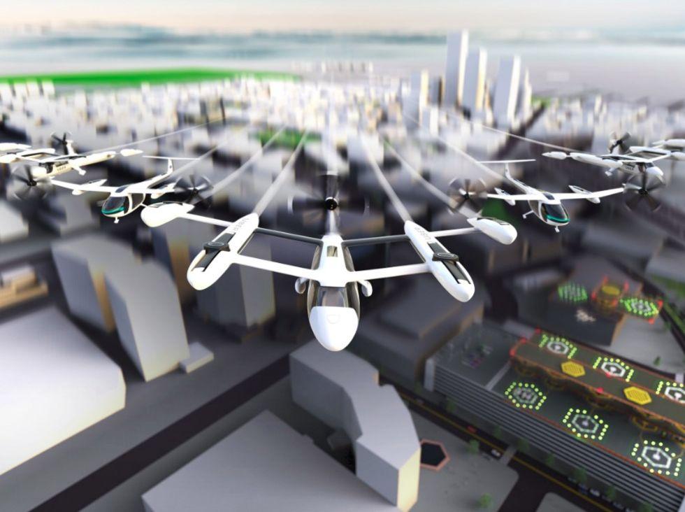 Uber planerar flygande taxis i sex länder