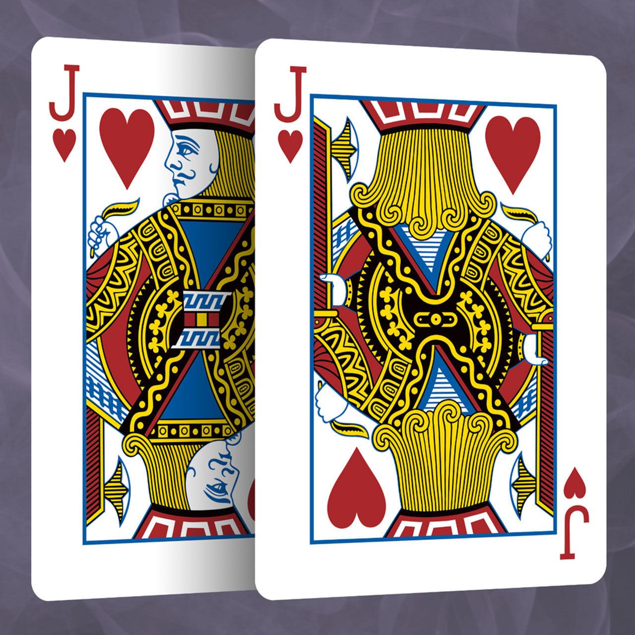Kortspel som visar baksidan