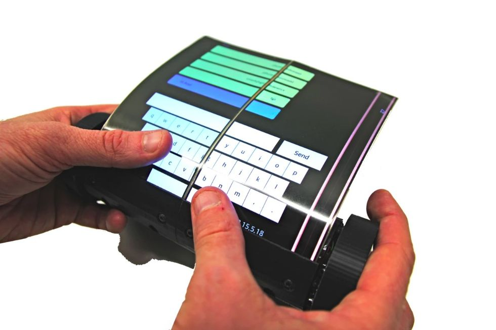 MagicScroll är en tablet på en rulle