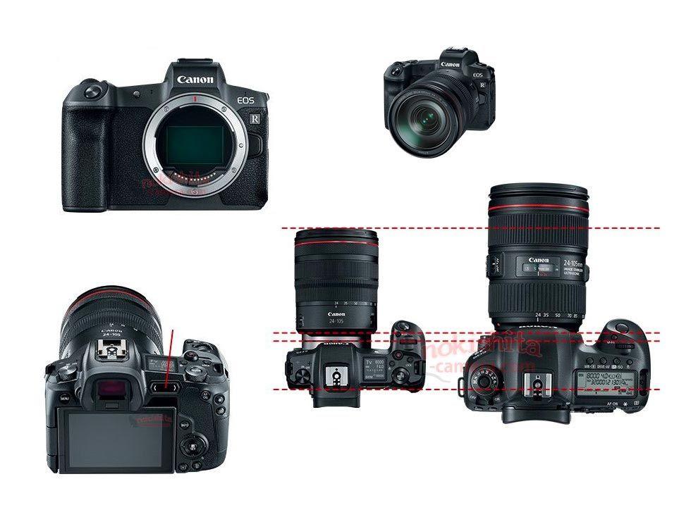 Bilder och specifikationer på Canons spegellösa läcker