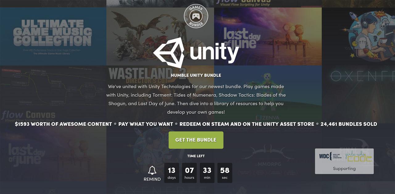 Fynda Unity-spel i ny Humble Bundle