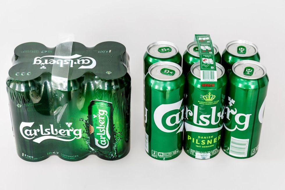 Carlsberg tar fram miljövänligare sexpack