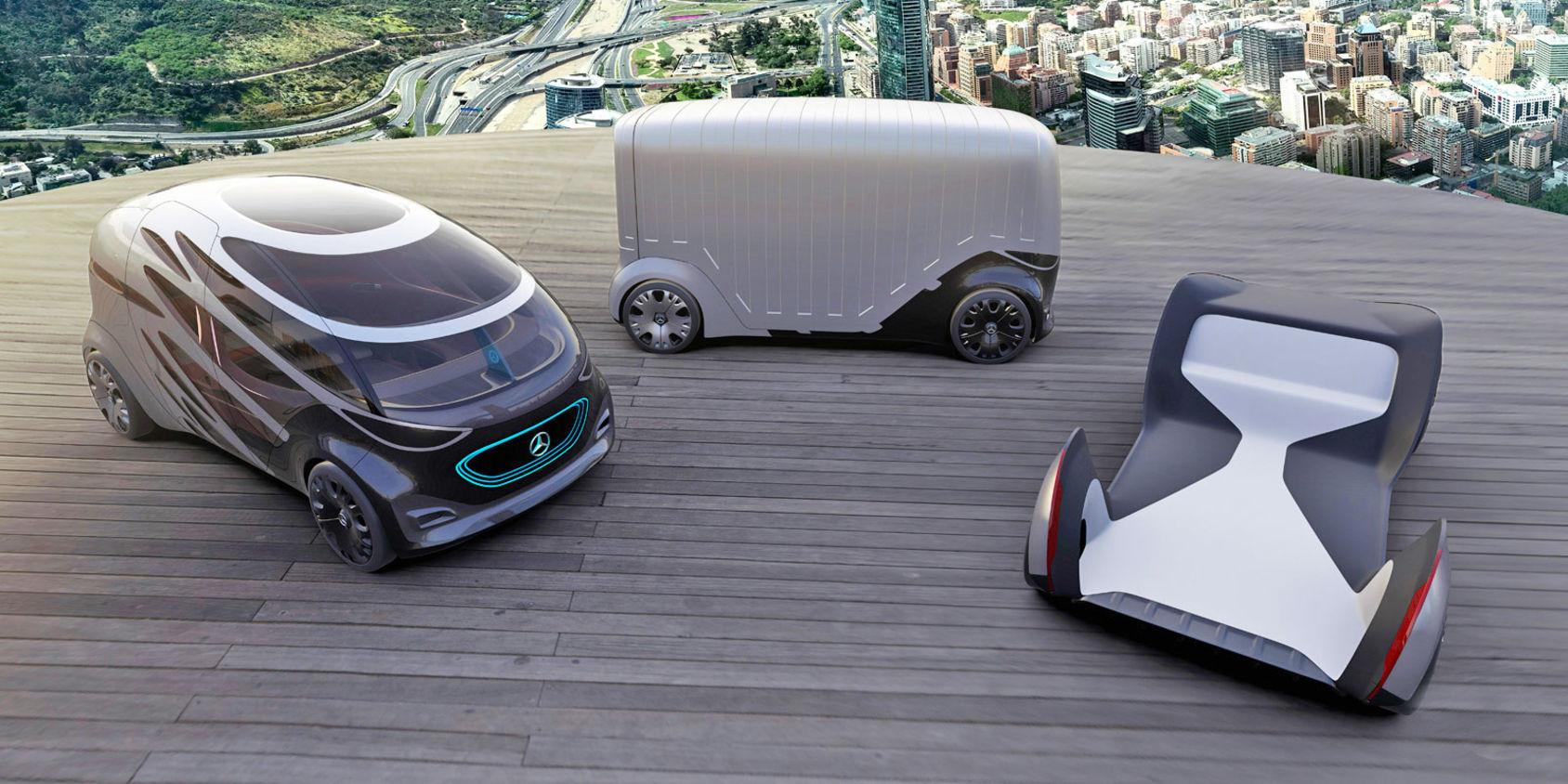 Mercedes visar upp  konceptet Vision Urbanetic