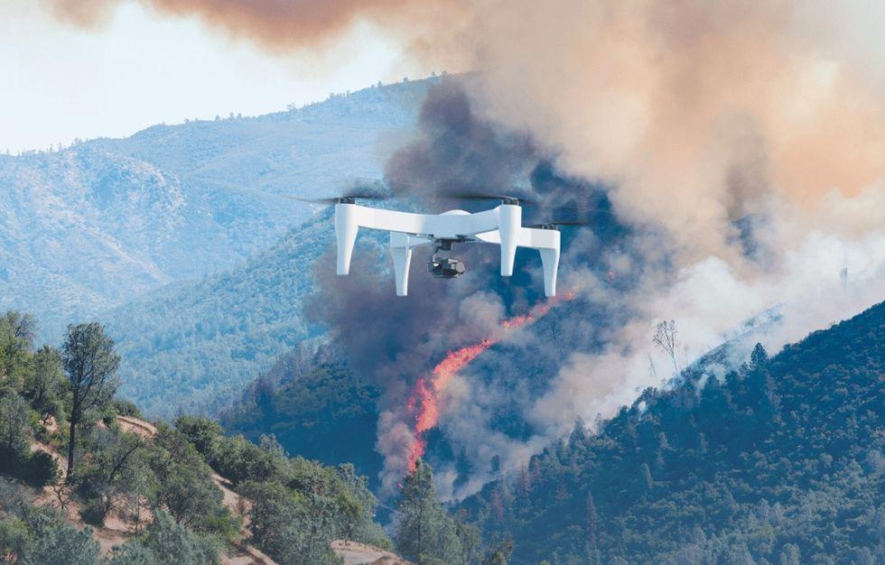 Impossible Aerospaces drönare uppges kunna flyga i 2 timmar