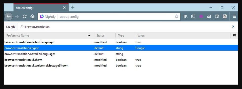 Webbläsaren Firefox får stöd för Google Translate