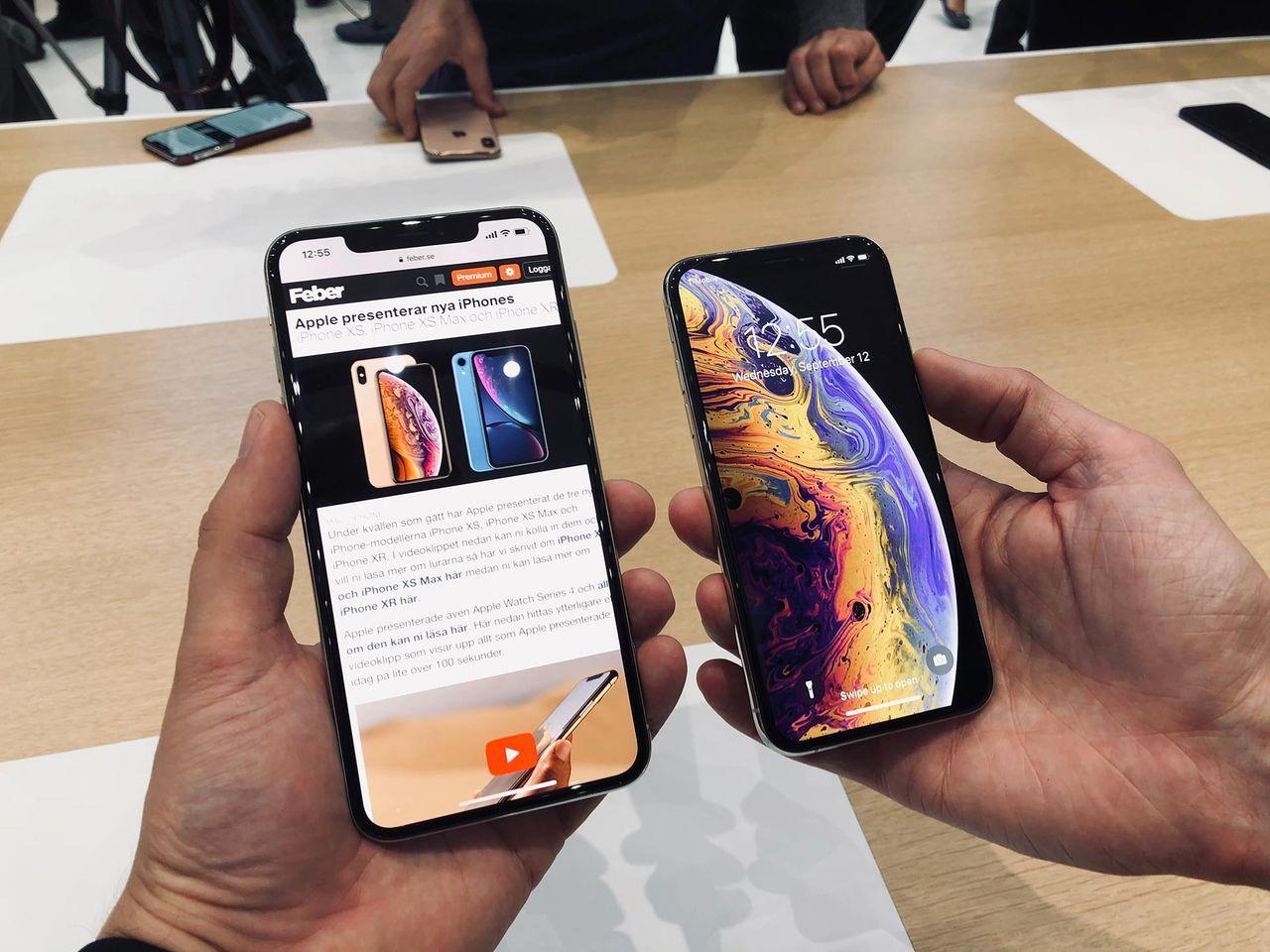... iPhone XS Max och iPhone XR. Apple presenterar nya iPhones 3789c0acb2aeb