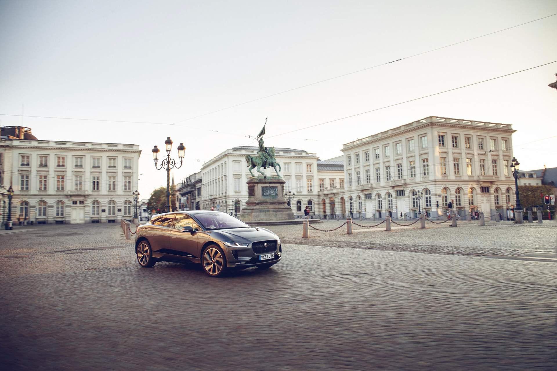 Jaguar I-Pace tog sig från London till Bryssel på en laddning