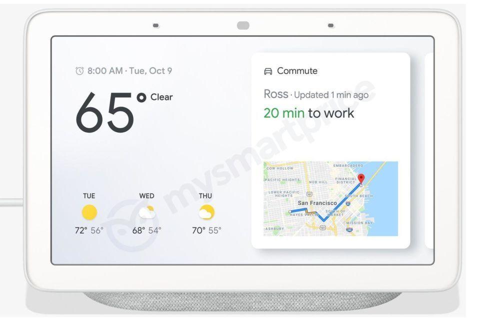 Googles smarta hemmet-hub läcker ut · Smart högtalare med tillhörande skärm 715a5e5348890