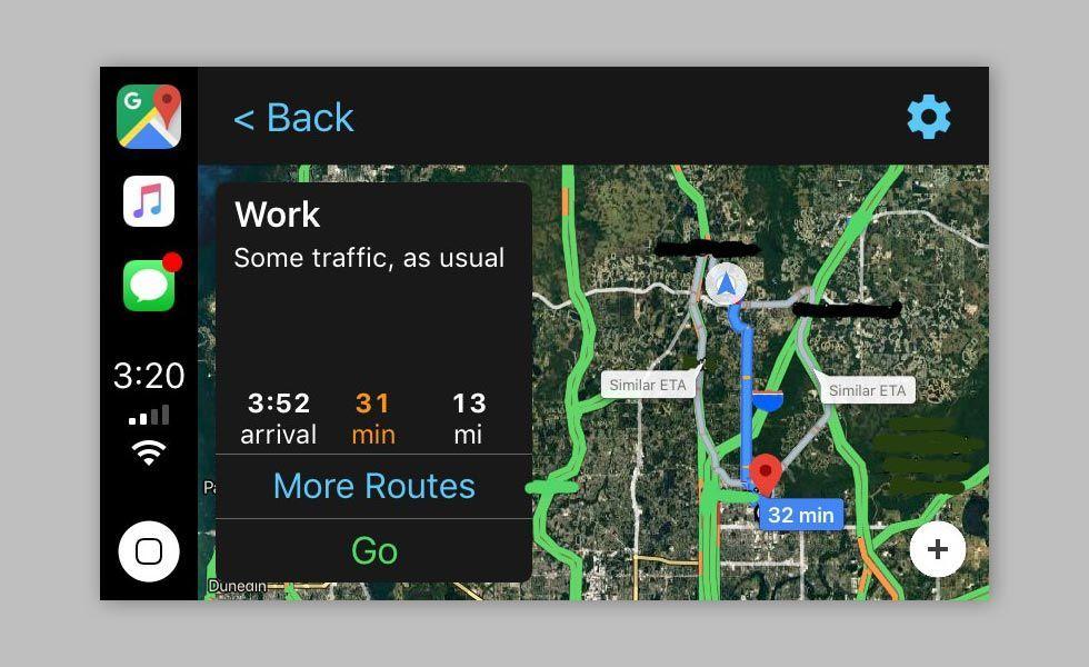 Google Maps med stöd för CarPlay är här