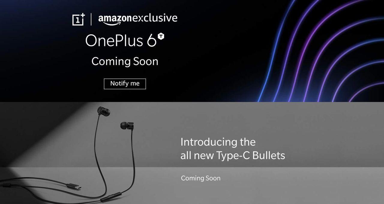 Amazon gör reklam för OnePlus 6T