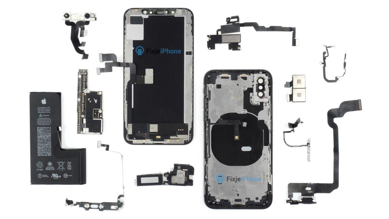 iPhone Xs isärplockad