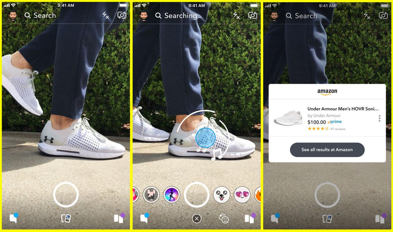 Snapchat och Amazon börjar samarbeta