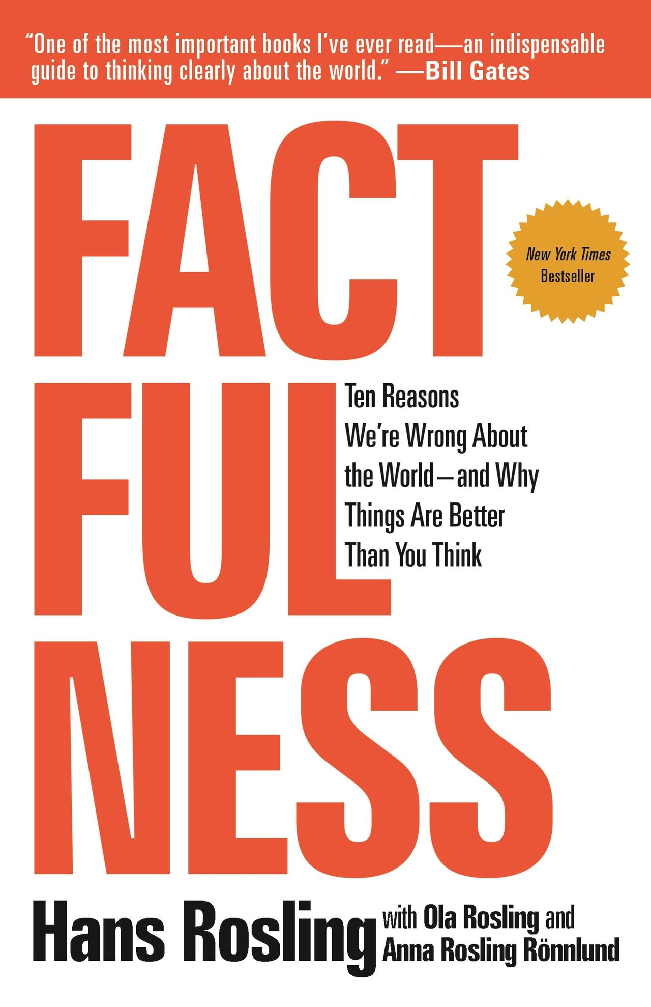 Gymnasieelever får Hans Roslings bok Factfullness