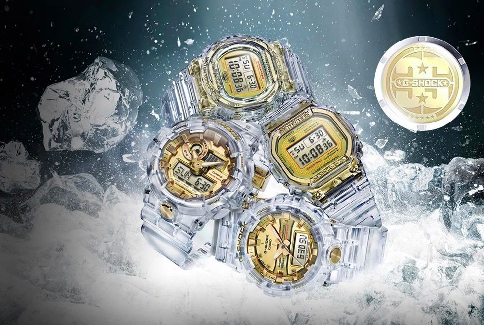 Casio släpper transparenta G-Shock-klockor