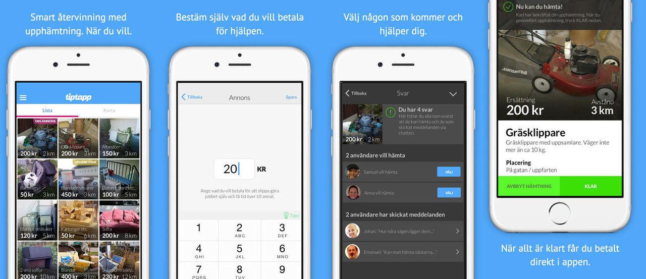 Stockholms stad vill förbjuda sophämtar-appen Tiptapp