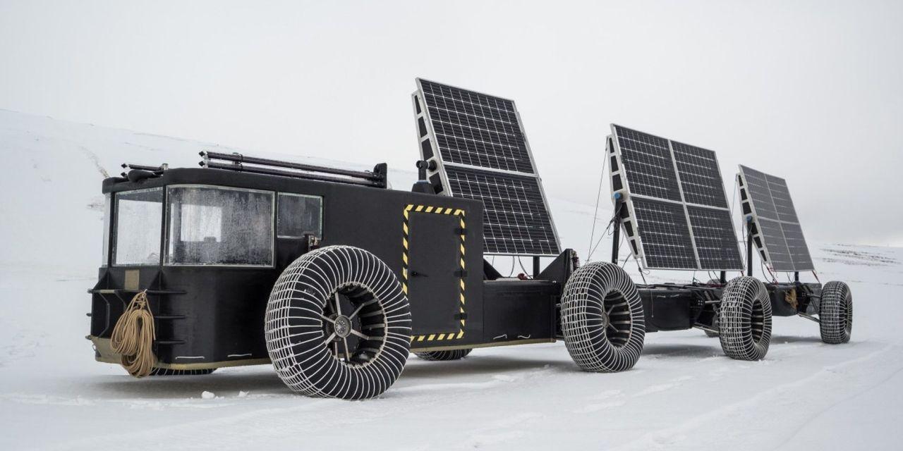 Par ska ta sig i soldrivet hemmabygge till Sydpolen