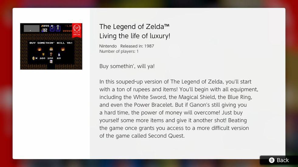 Nintendo Switch Online fixar enklare version av Zelda