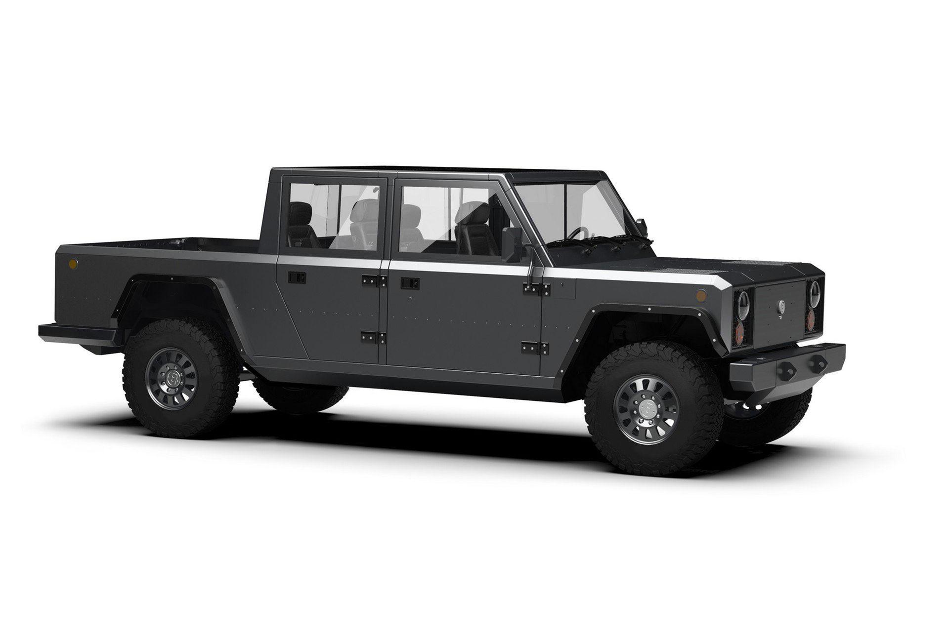 Bollinger Motors visar renderingar på eldriven pickup