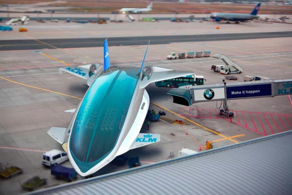 Kanye West visade vätgasdrivet flygplan för USA:s president