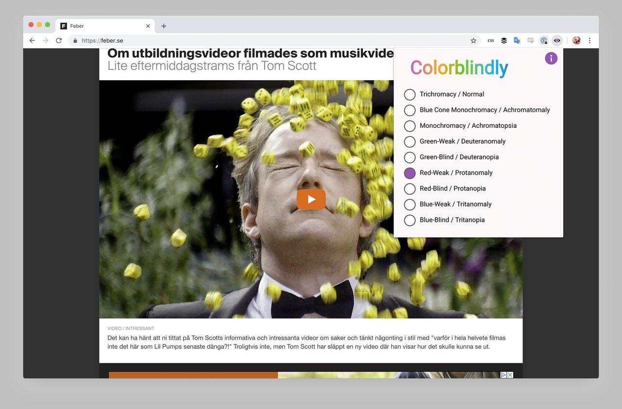 Så här ser webben ut för färgblinda