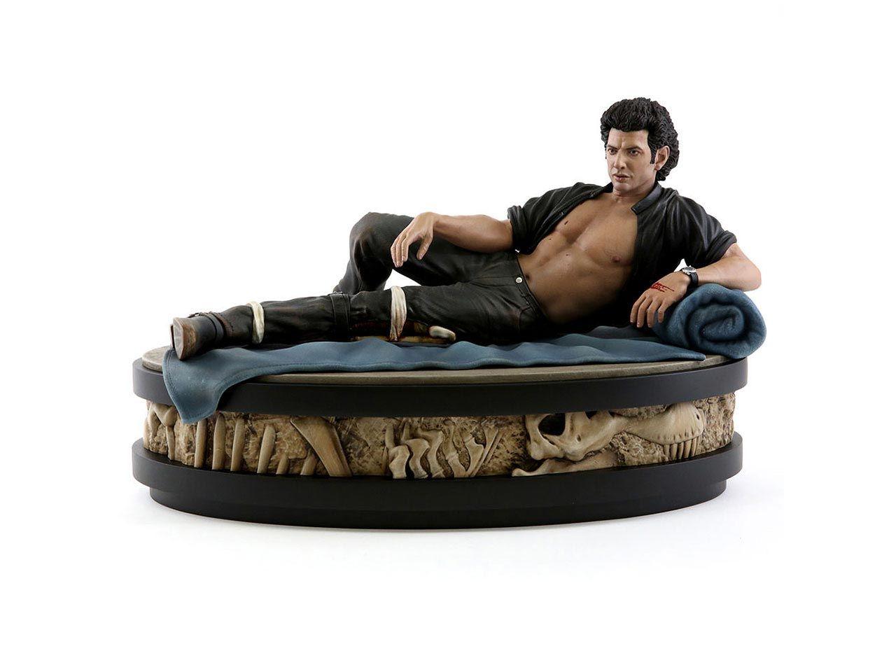 Bisarr staty av Jeff Goldblum