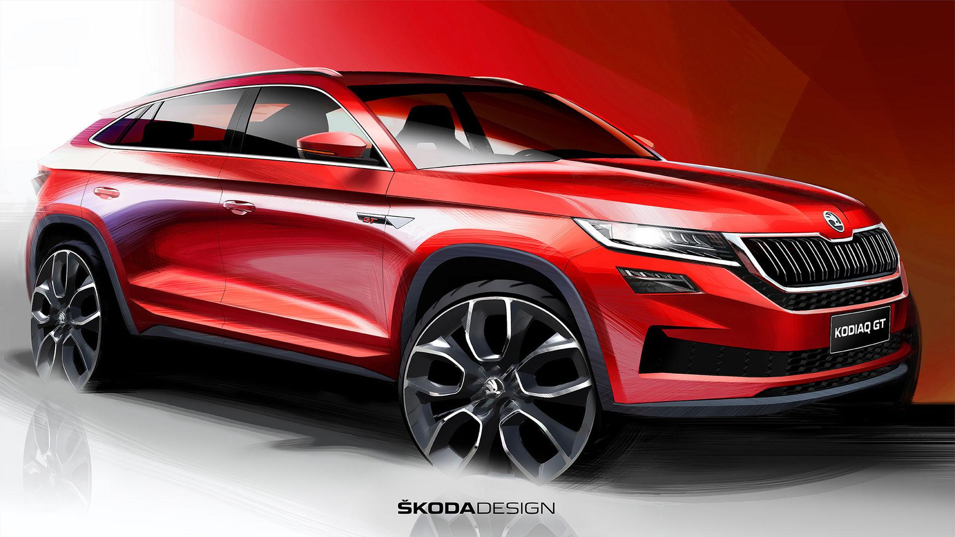 Så här ser coupéversionen av Skoda Kodiaq ut