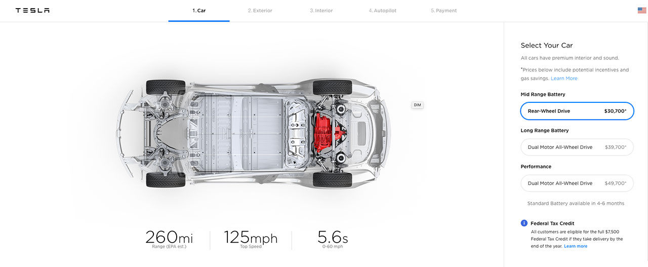 Tesla presenterar billigare Model 3