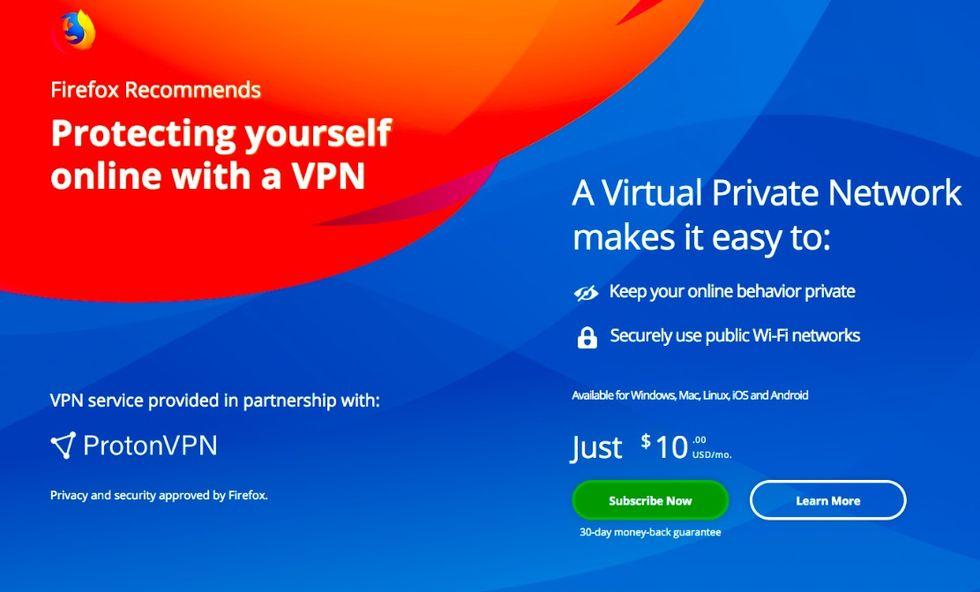 Firefox ska erbjuda sina användare VPN-uppkoppling