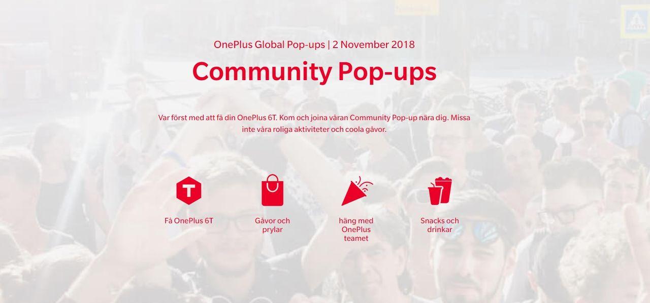 OnePlus kör pop-up-event hos Webhallen 2 november. Umgås med ... 4baf435b9ac29