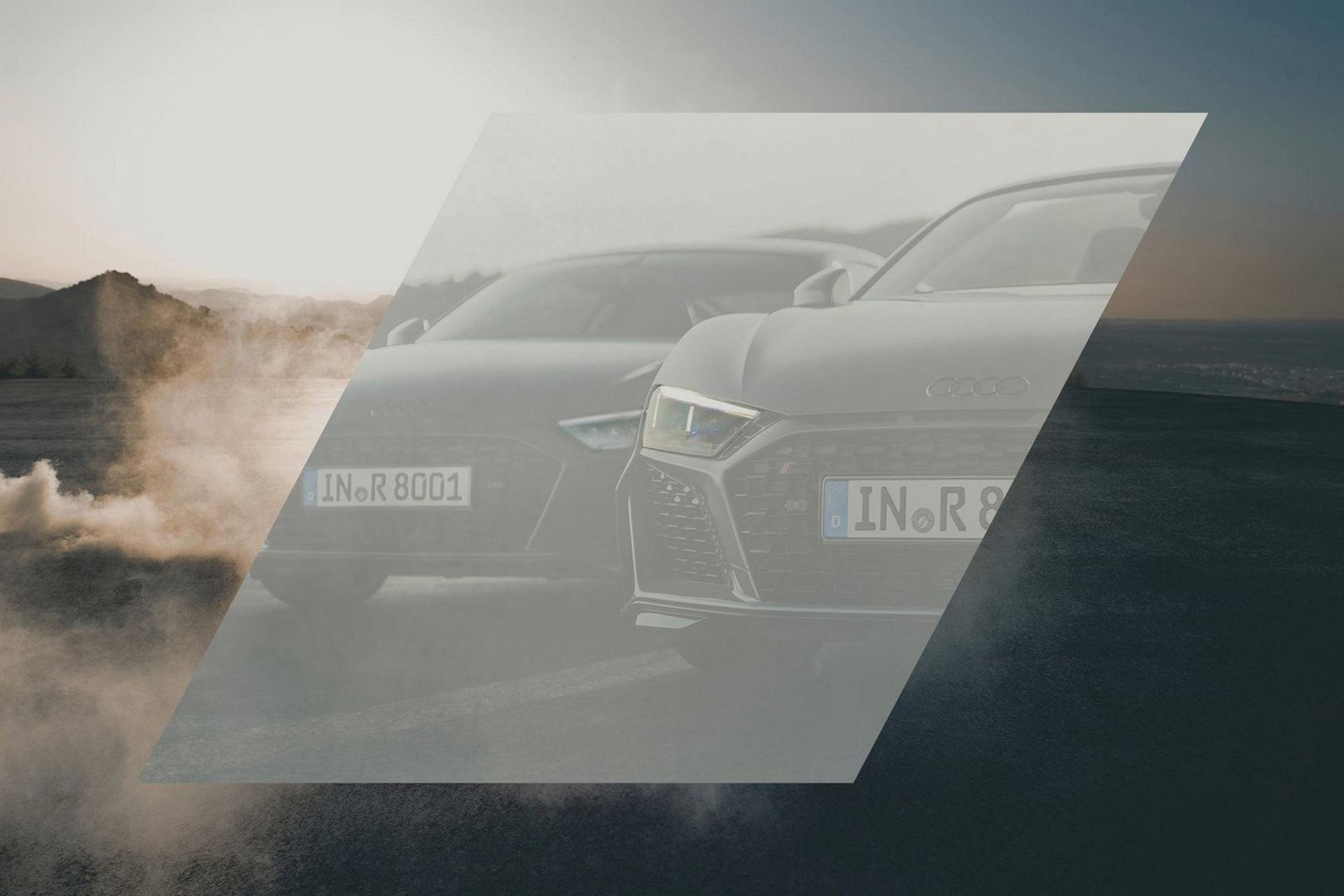 Teaserbild på Audi R8:s nya ansikte