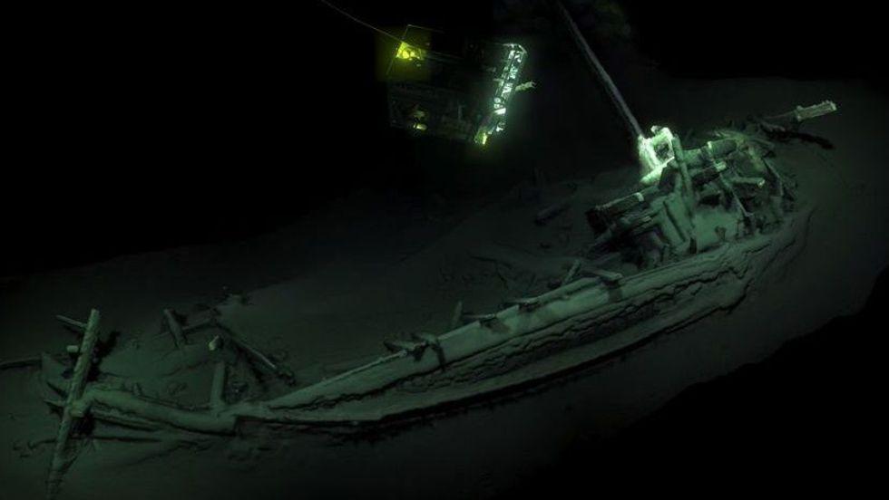 2400 år gammalt skeppsvrak hittat i Svarta Havet