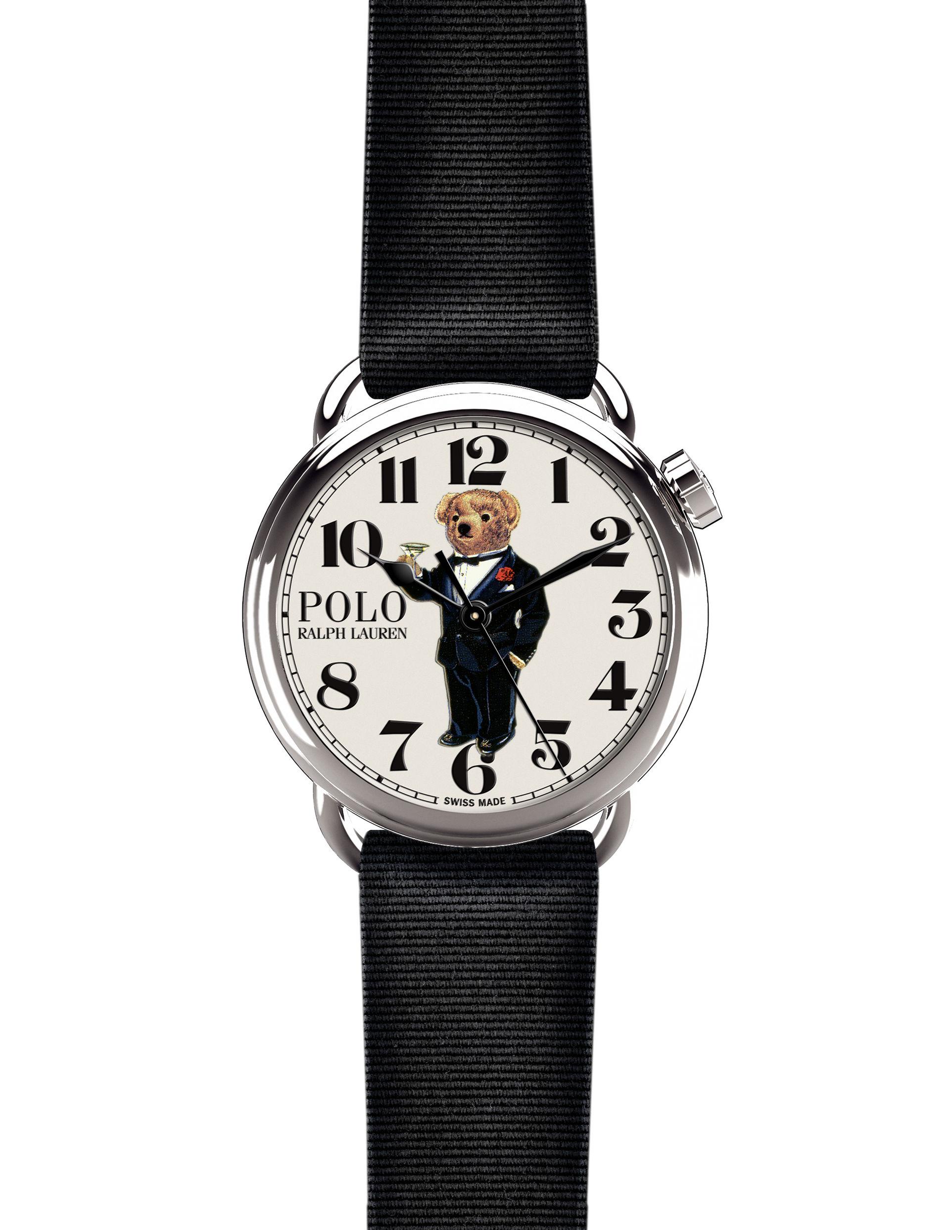 Klocka med Polo Bear på