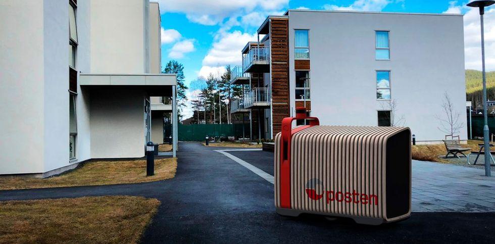 Robotar blir brevbärare i Norge