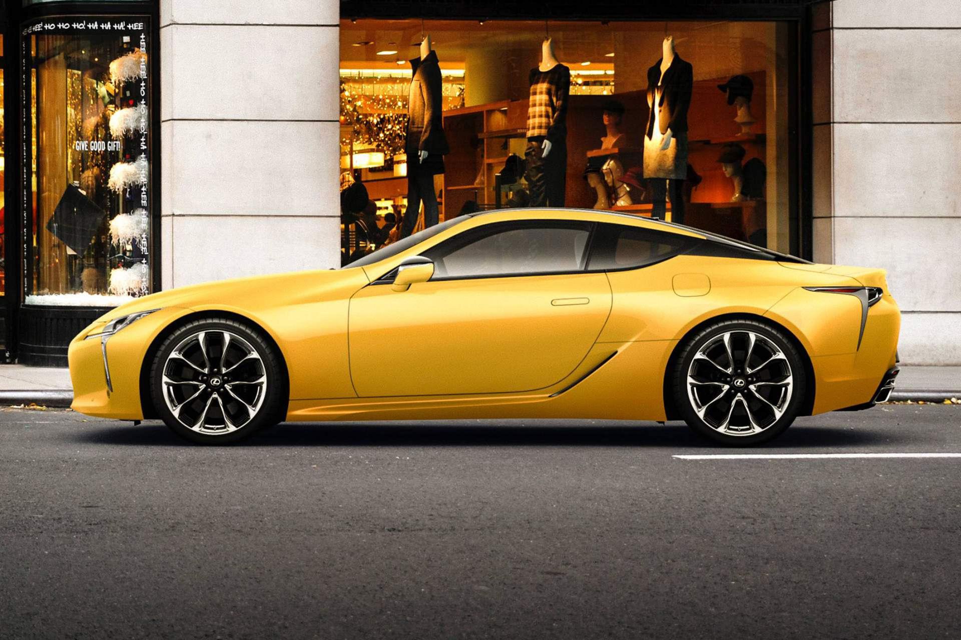 Lexus visar LC i lackalternativet Luster Yellow