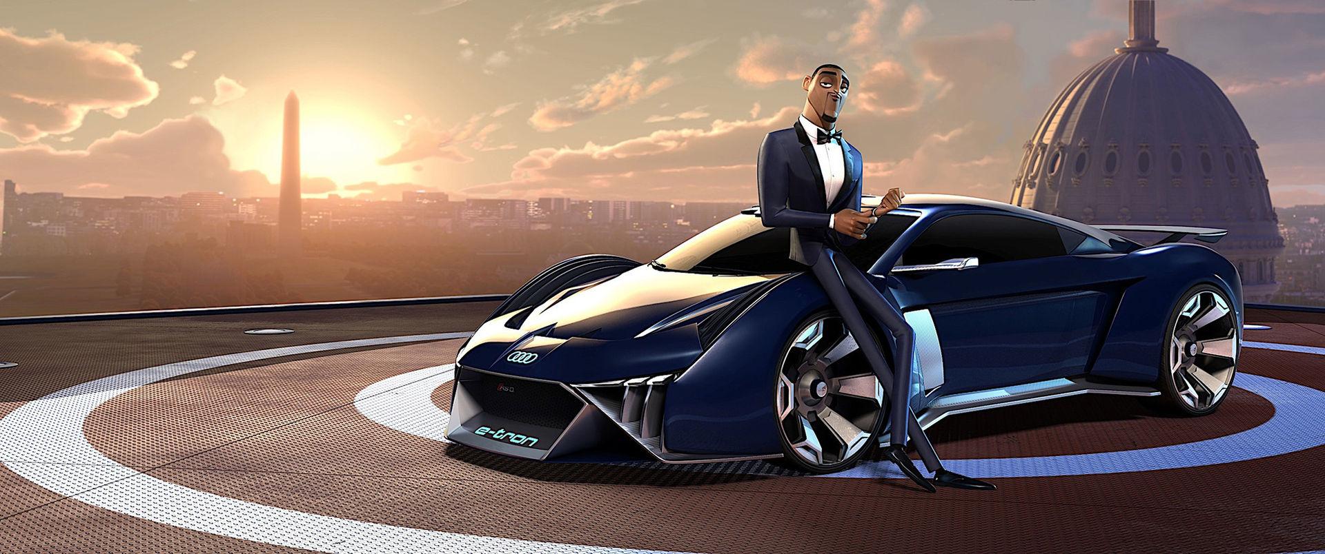 Will Smith kör Audi RSQ e-tron