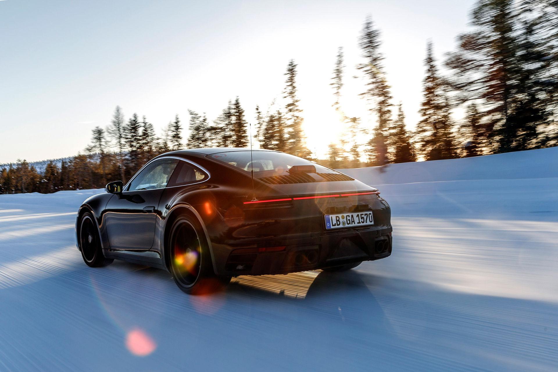 Slutspurt för testerna av nya Porsche 911