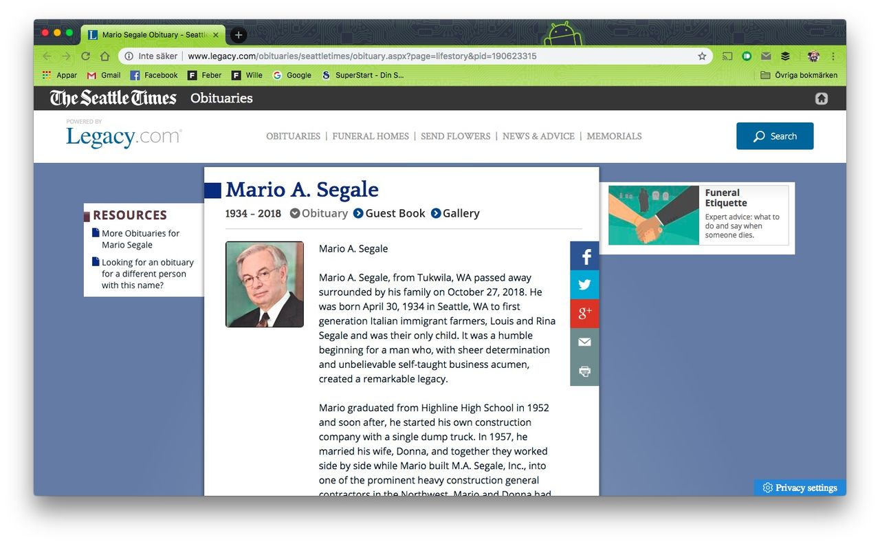 Hejdå Mario Segale