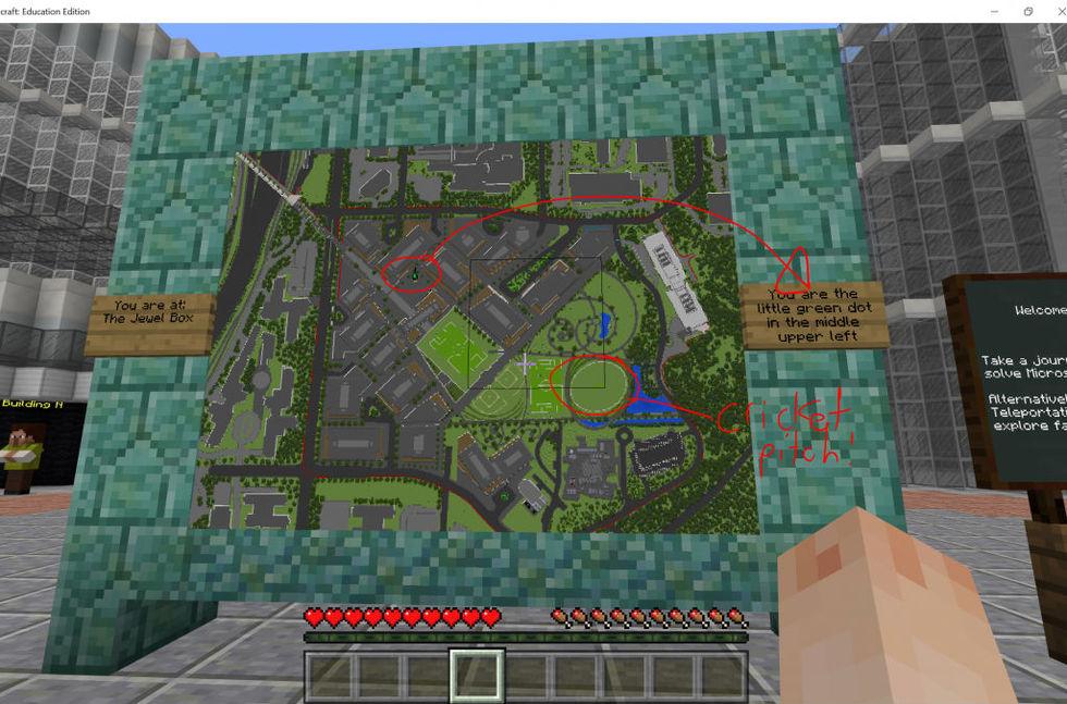 Microsoft bygger modell av sitt nya huvudkontor i Minecraft