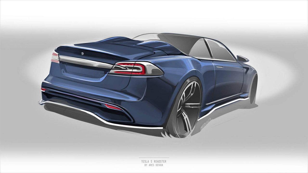 Ares visar skiss på Tesla Model S Roadster