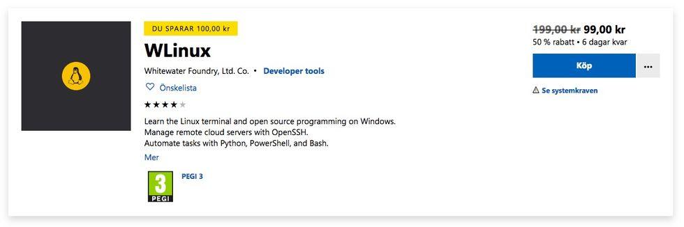 WLinux släppt till Windows
