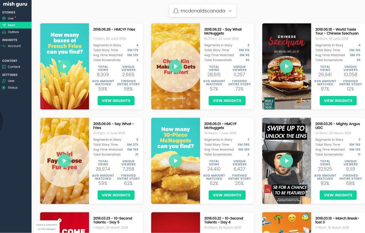 Schemalägg Stories i Instagram och Snapchat med Mish