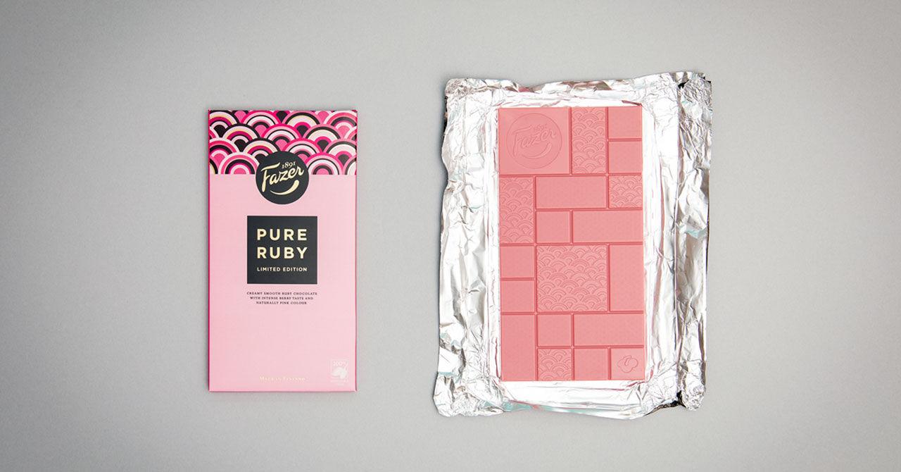 Unik rosa choklad från Fazer