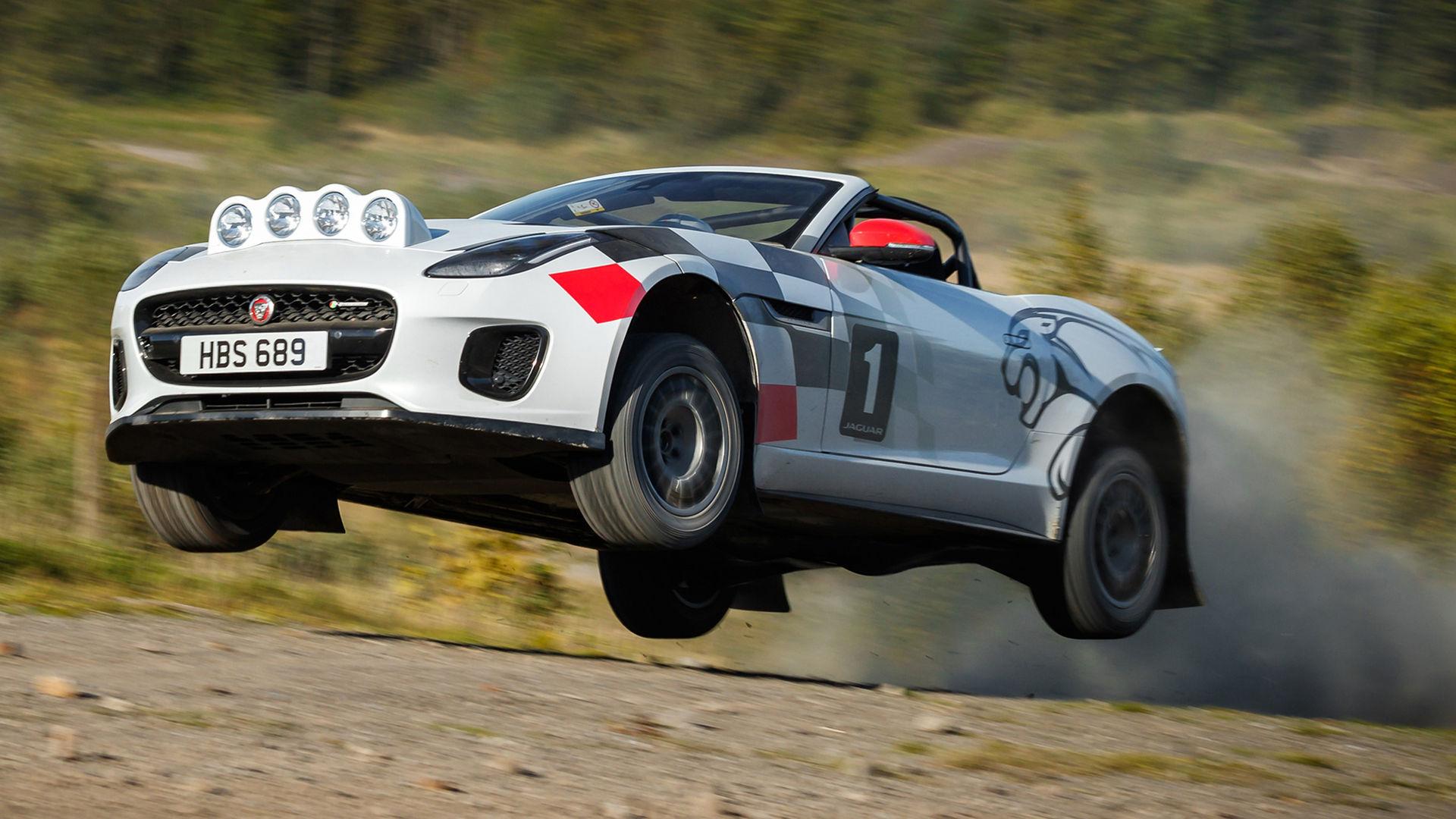 Jaguar har byggt en rallybil av F-Type Cabriolet