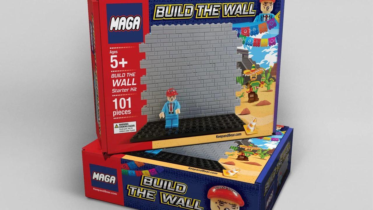 Nu finns Donald Trump som kontroversiella kopior av LEGO