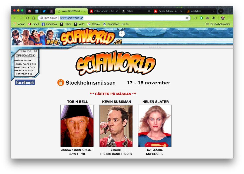 SciFiWorld i Stockholm till helgen