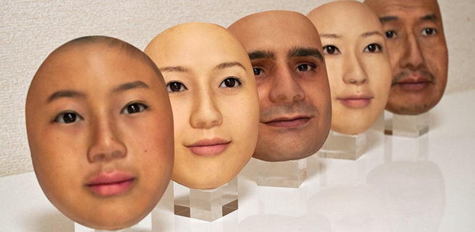 Japanskt företag tillverkar verklighetstrogna ansiktsmasker