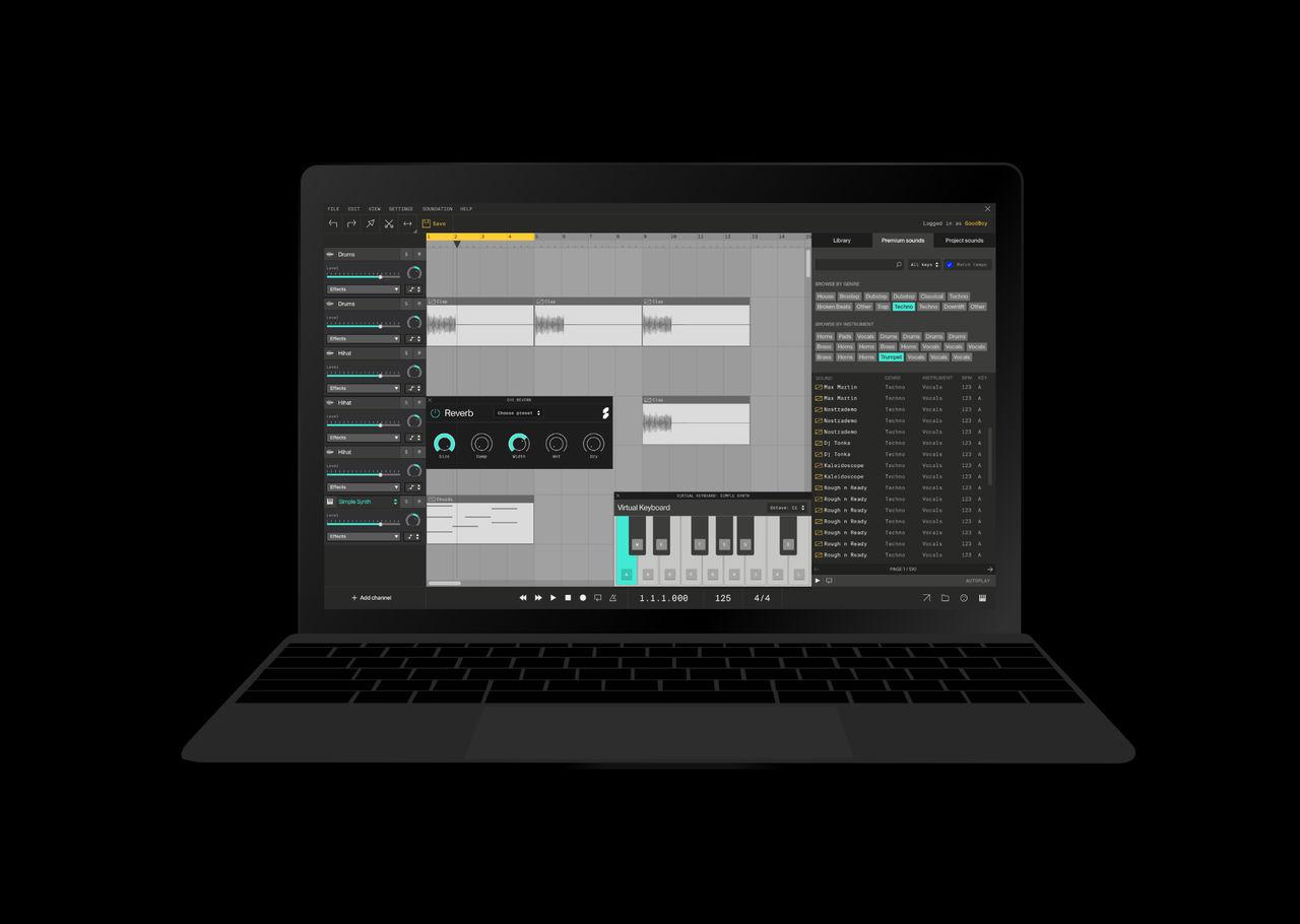 Onlinestudion Soundation implementerar WebAssembly