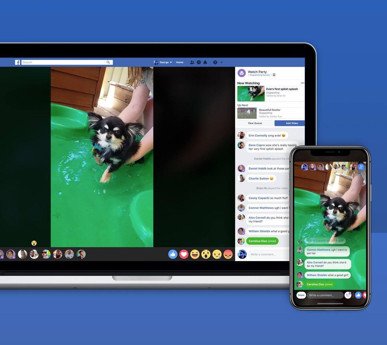 Titta på video tillsammans i Facebook Messenger