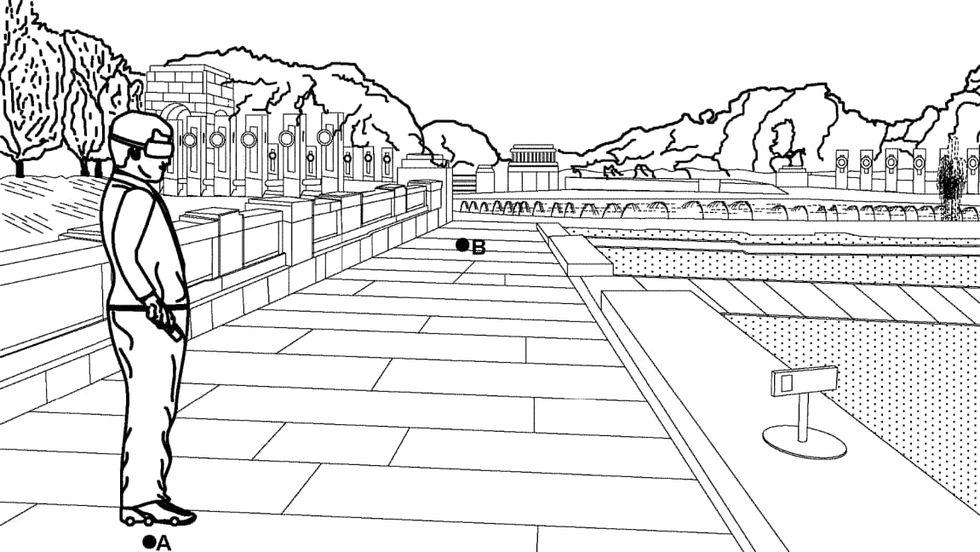Google tar patent på virtual reality-skor